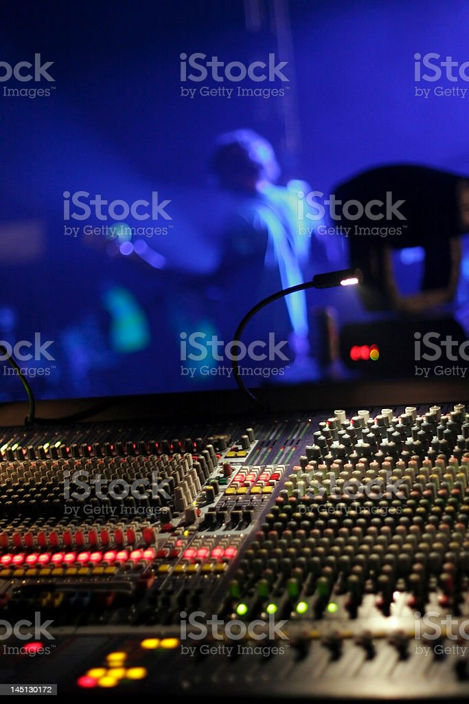Sounddesk stock photo