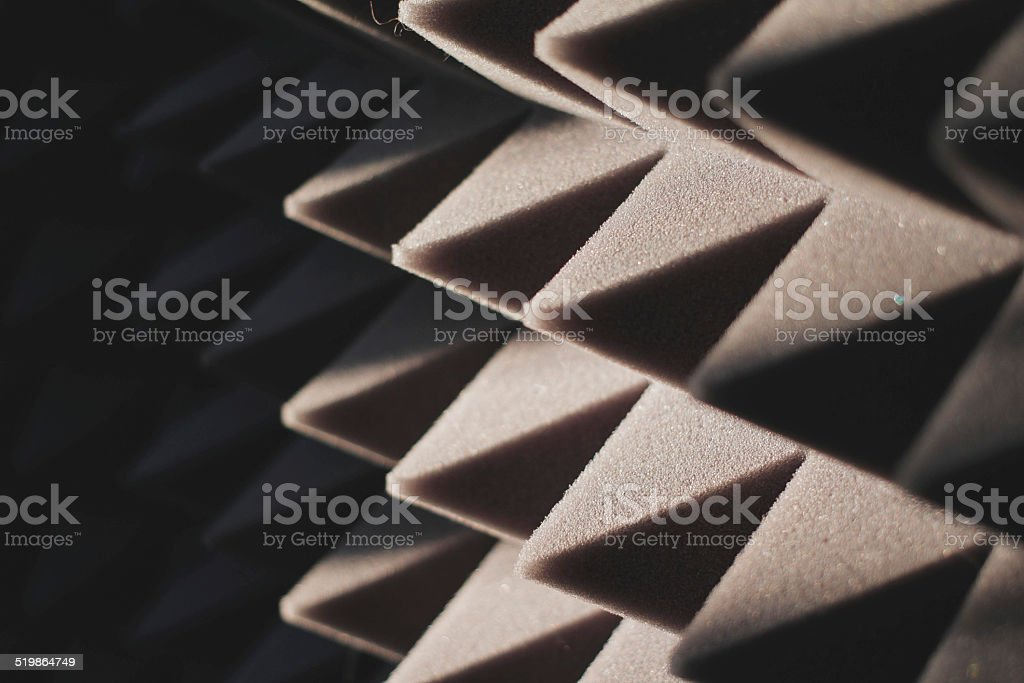 sound-proof material stock photo