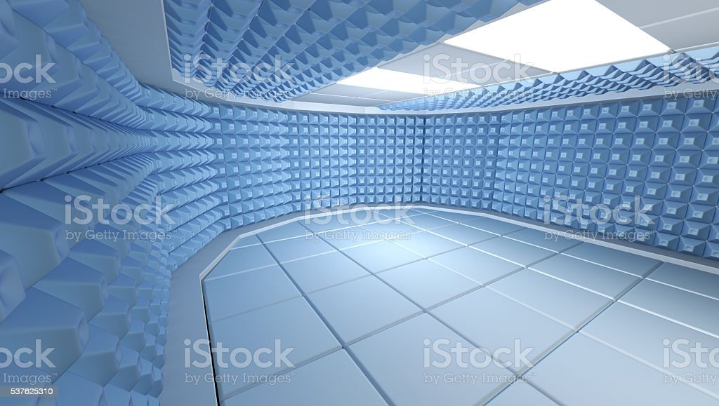 Soundproof room interior , 3d render image stock photo