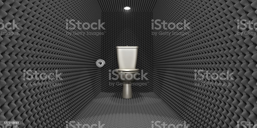 Soundproof Toilet Cubicle stock photo