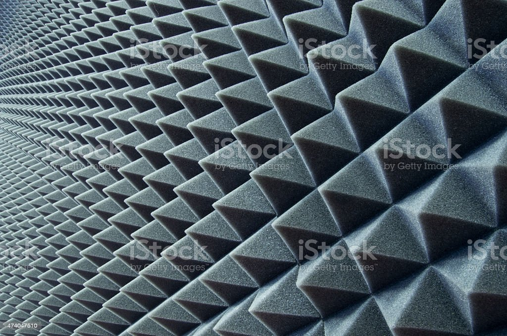 Soundproofing background stock photo