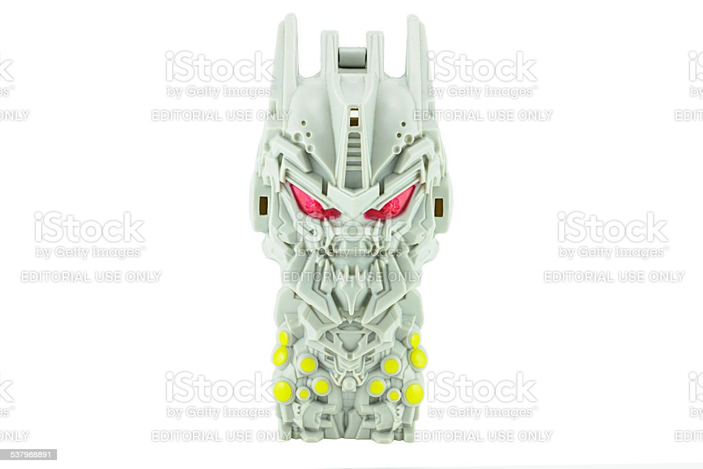 Soundwave toy character from TRANSFORMERS Movie series. stock photo