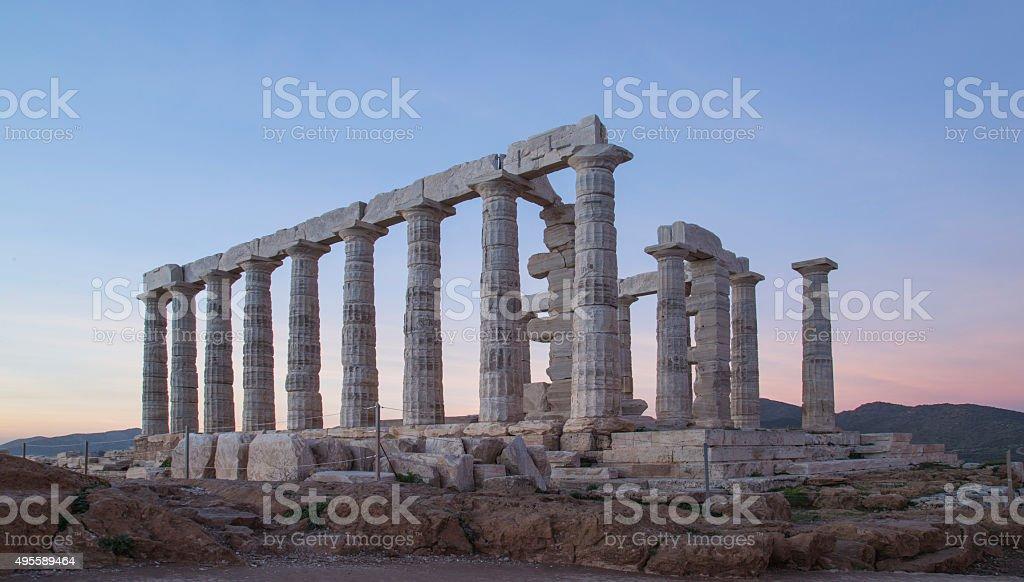 Sounion Cape, Athens, Greece stock photo