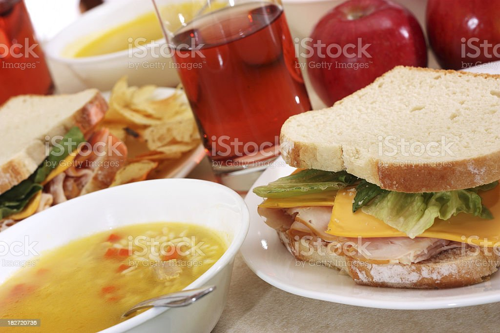 Soup and a Sandwich stock photo