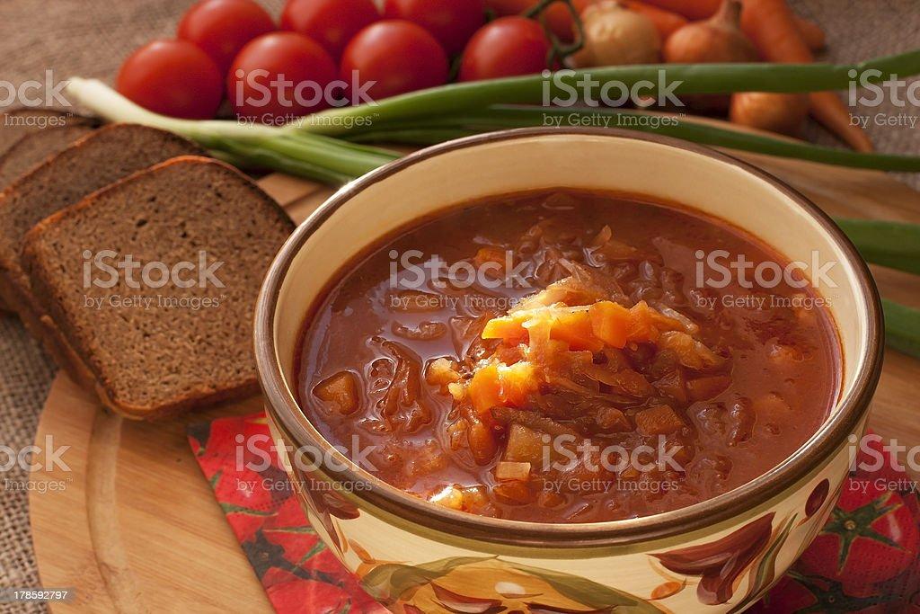 Soup borsch royalty-free stock photo
