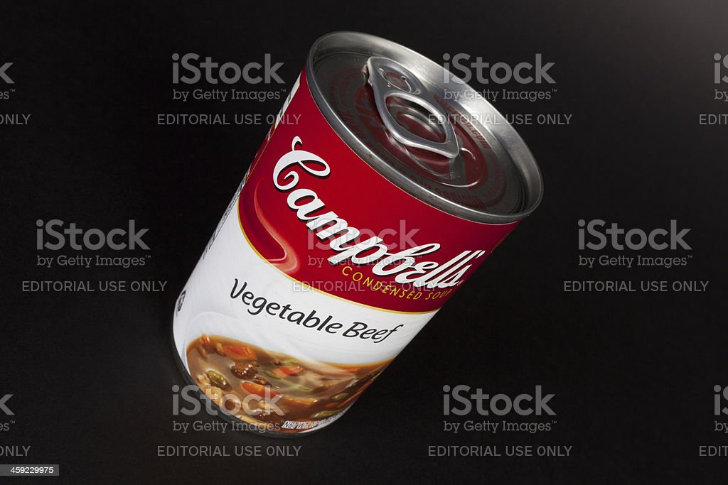 Soup Campbell's royalty-free stock photo