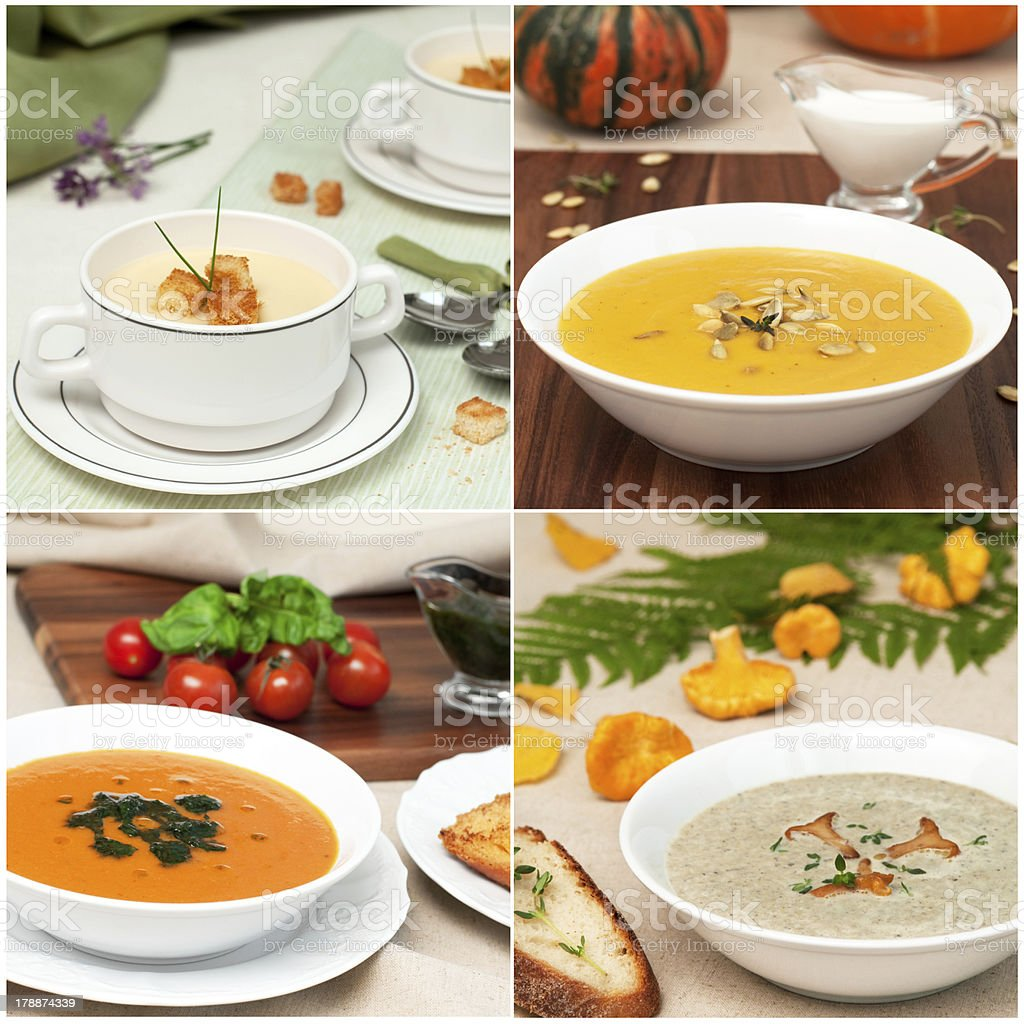 soup collage royalty-free stock photo