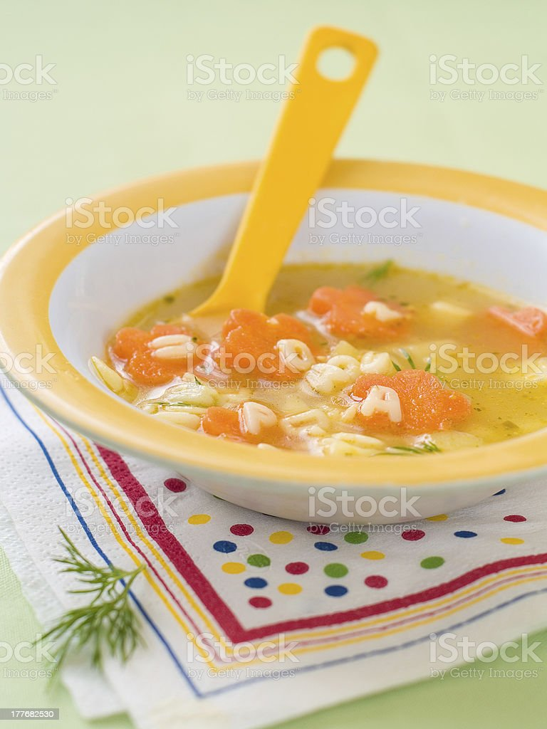 soup for baby stock photo
