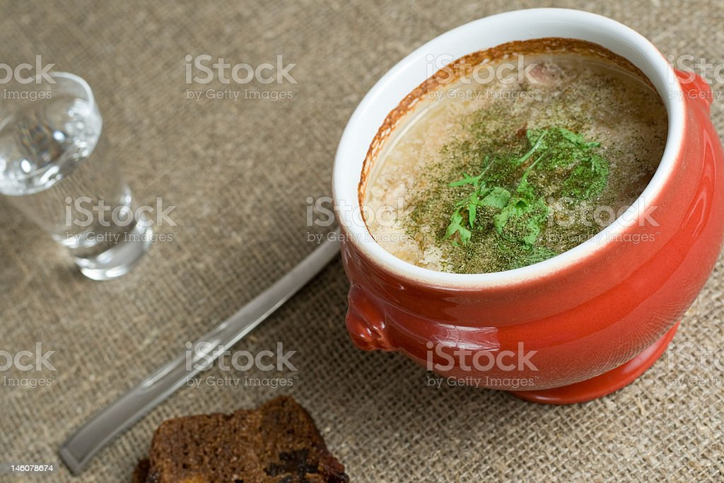 soup in a pot royalty-free stock photo