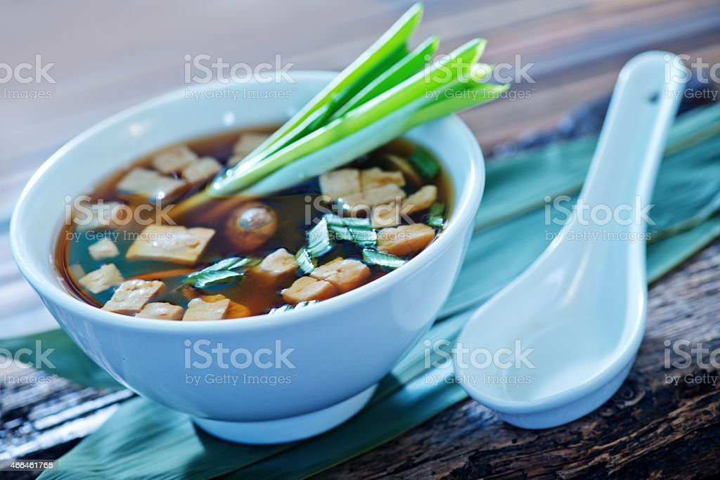 soup in bowl stock photo