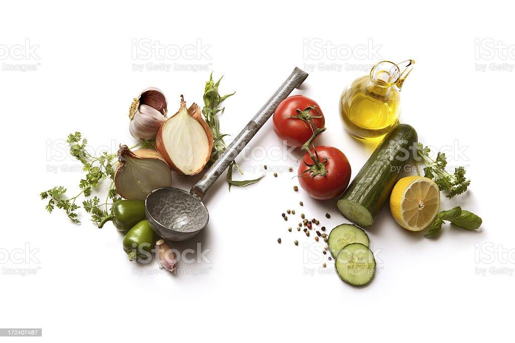 Soup Ingredients: Gazpacho stock photo