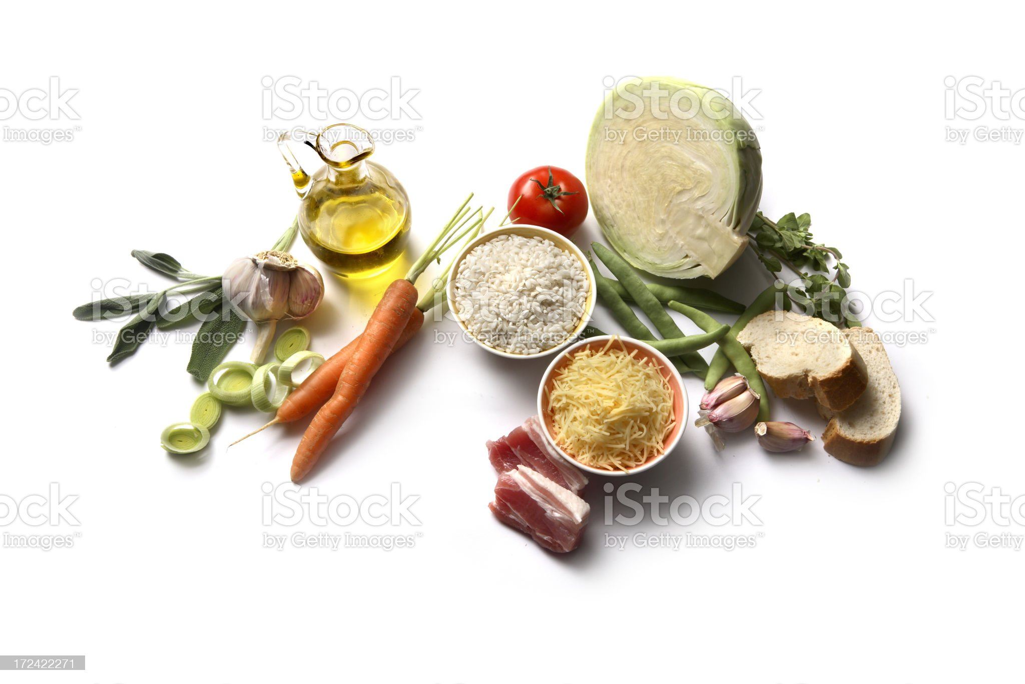 Soup Ingredients: Minestrone royalty-free stock photo