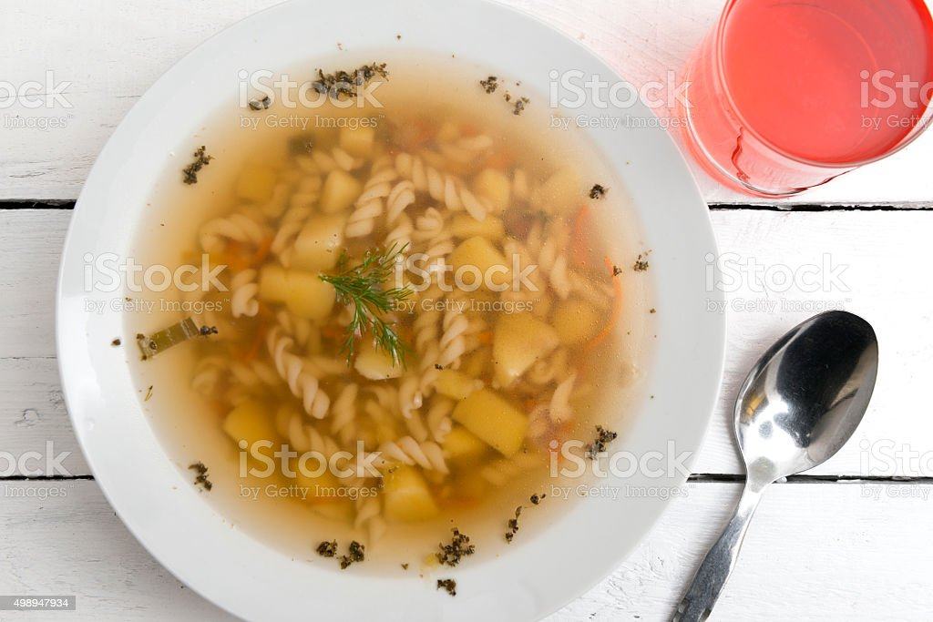 Soup is ready stock photo