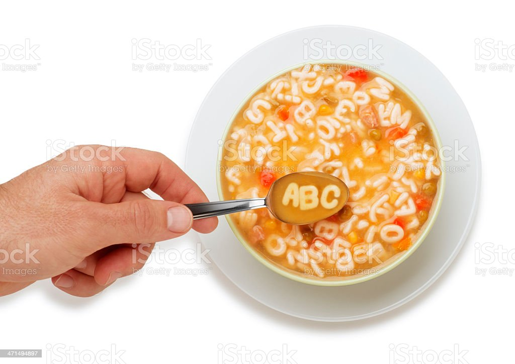 ABC Soup stock photo