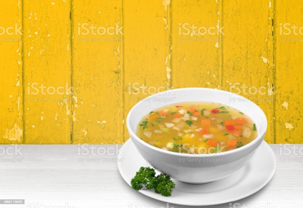 Soup. stock photo