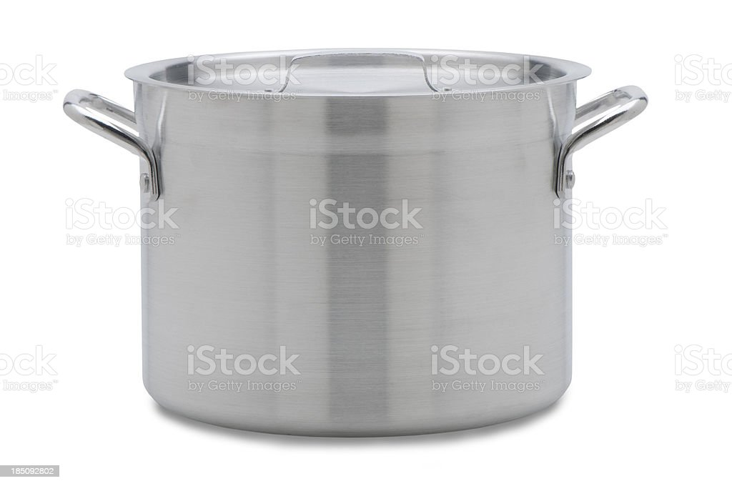 soup pot with clipping path stock photo