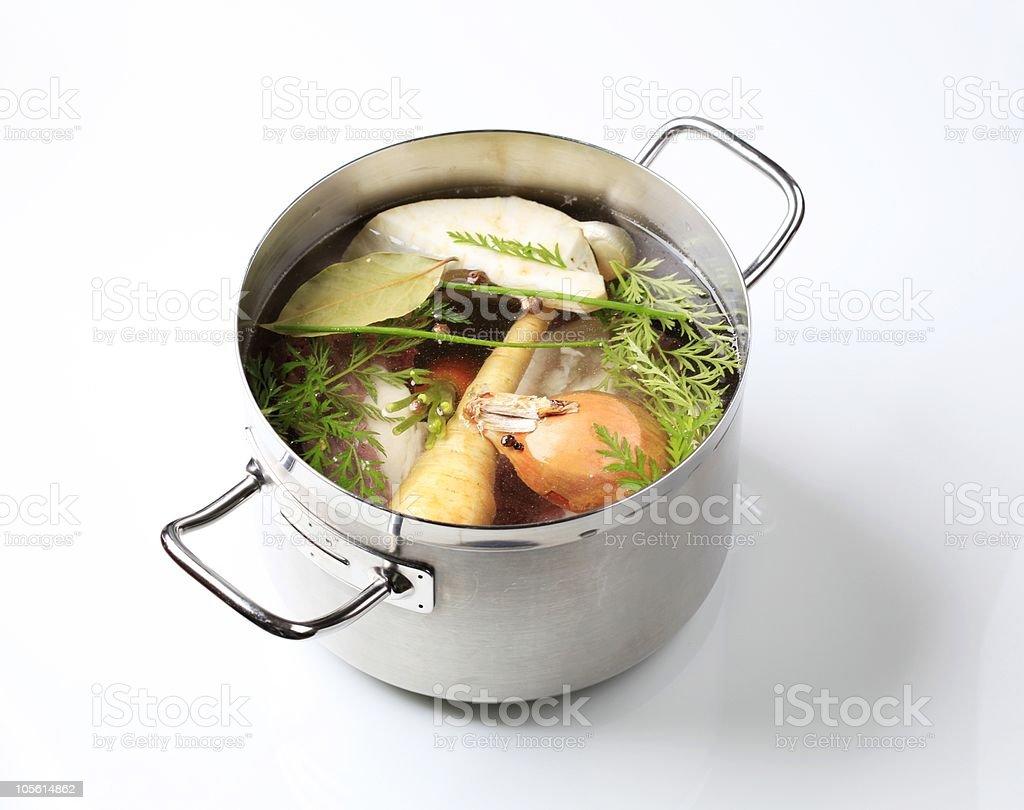 Soup preparation stock photo