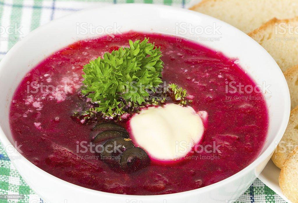 soup, red borsch royalty-free stock photo