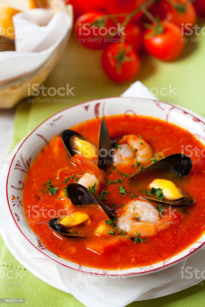 Frutti di mare soup royalty-free stock photo