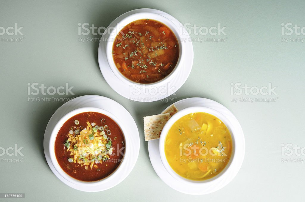 Soup Selection stock photo