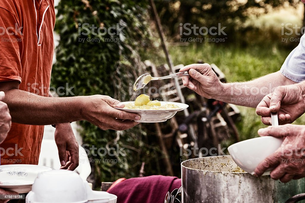soup serving kitchen stock photo