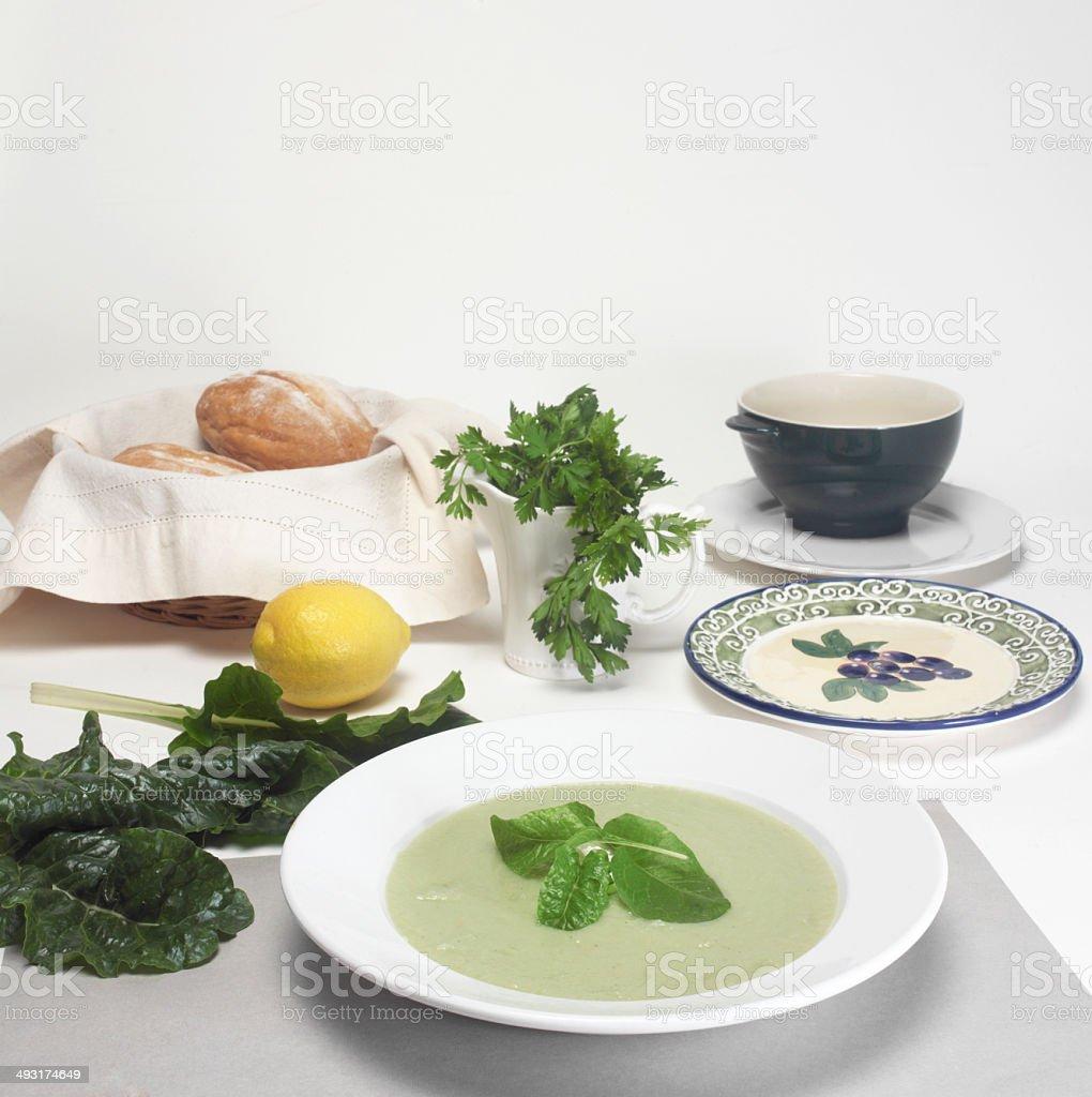 Soup Setting stock photo