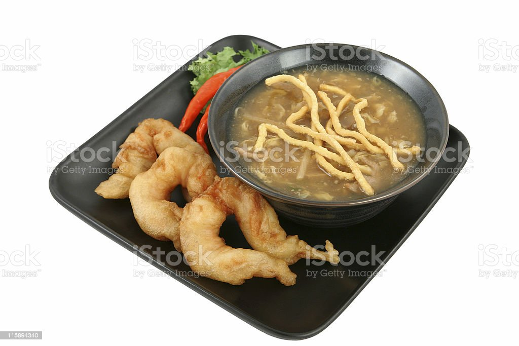 Soup & Shrimp with Clipping Path royalty-free stock photo