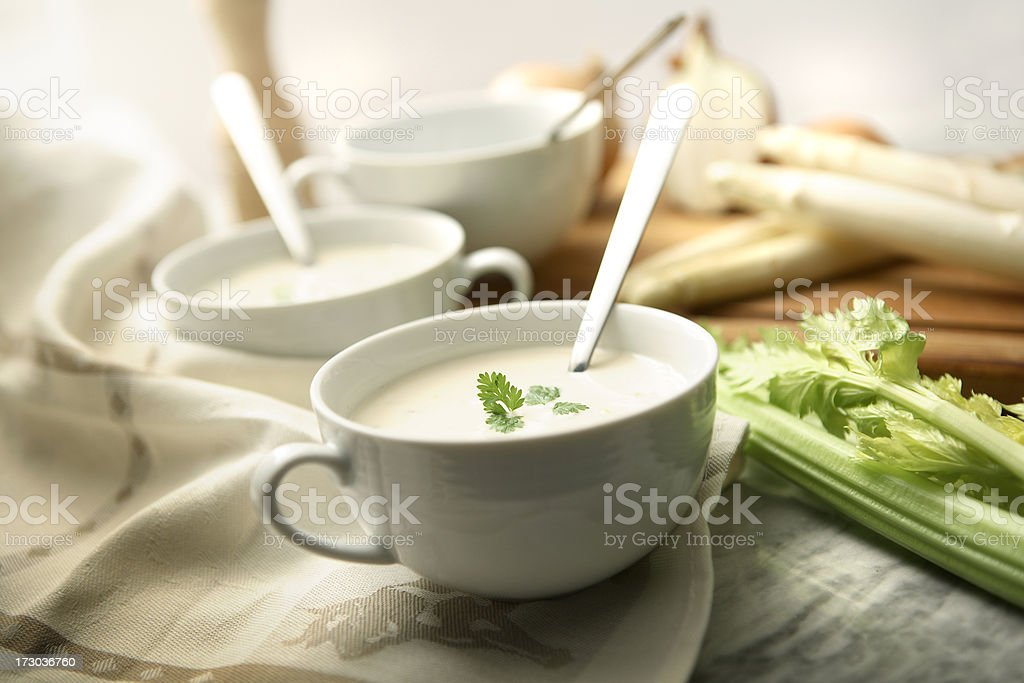 Soup Stills: Asparagus Soup royalty-free stock photo