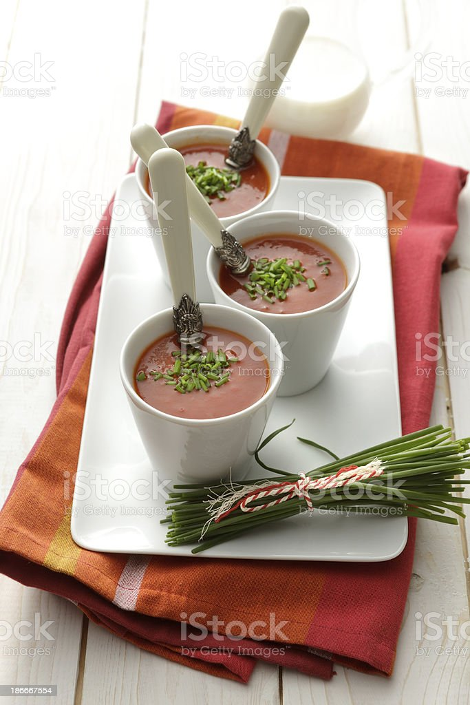 Soup Stills: Bell Pepper Soup royalty-free stock photo