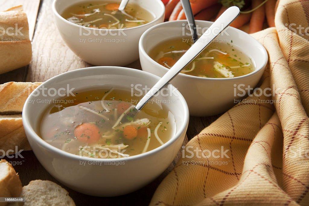 Soup Stills: Chicken stock photo