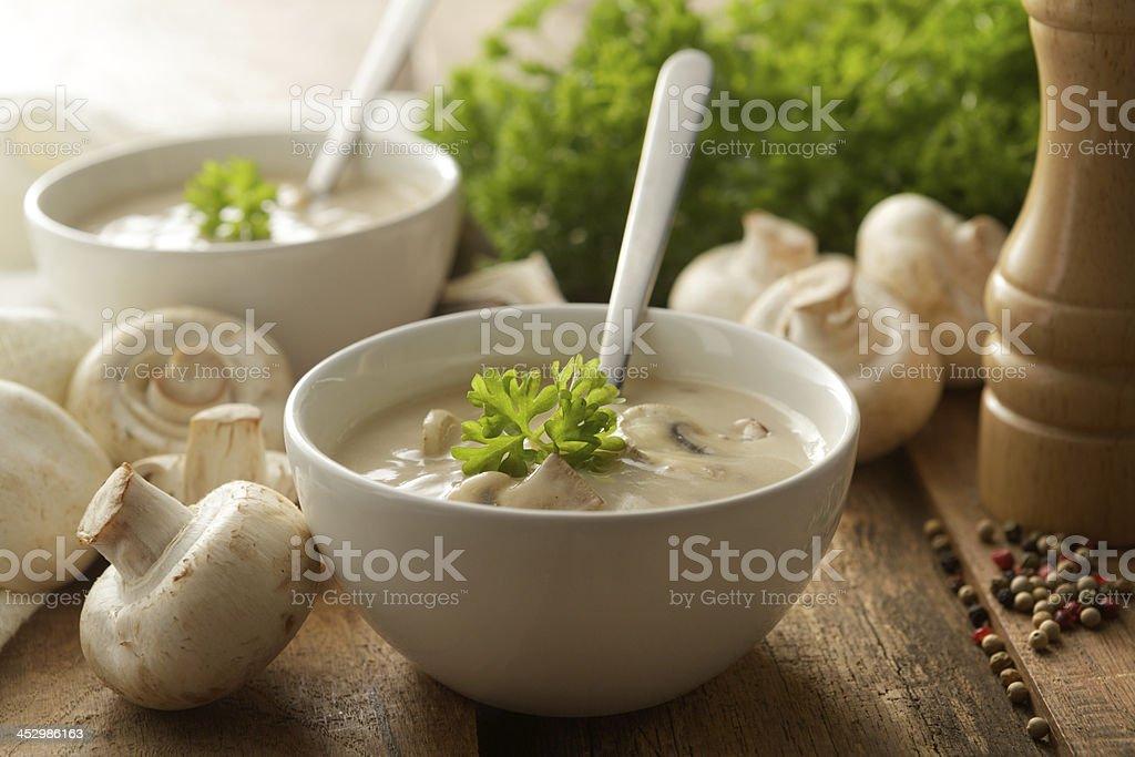 Soup Stills: Mushroom Soup stock photo