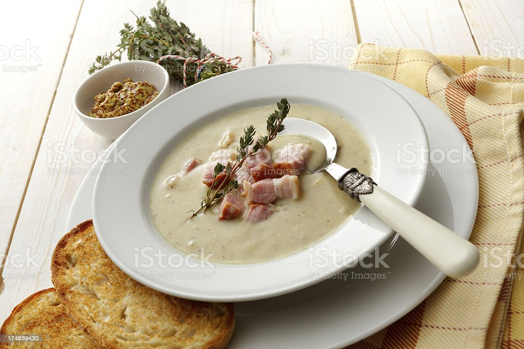 Soup Stills: Mustard royalty-free stock photo