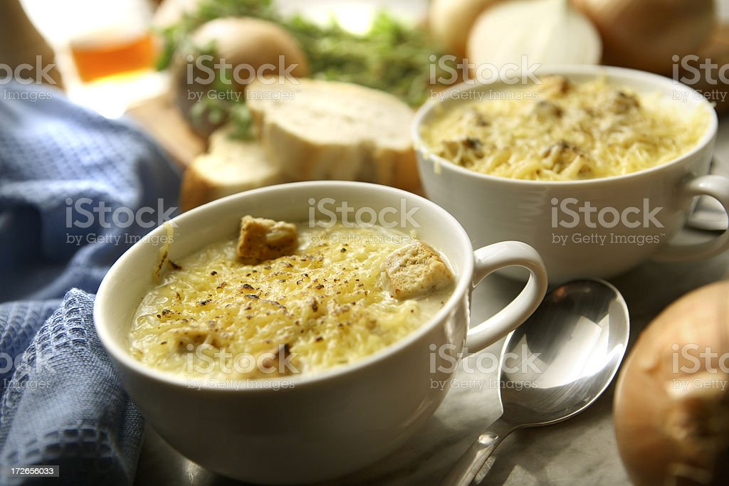 Soup Stills: Onion Soup stock photo