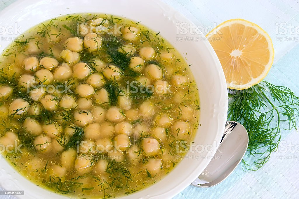 soup with chick-pea royalty-free stock photo