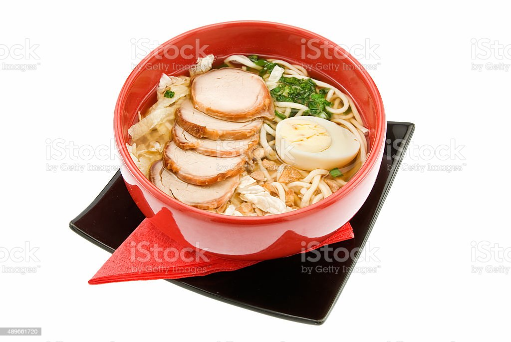 soup with macaroni stock photo