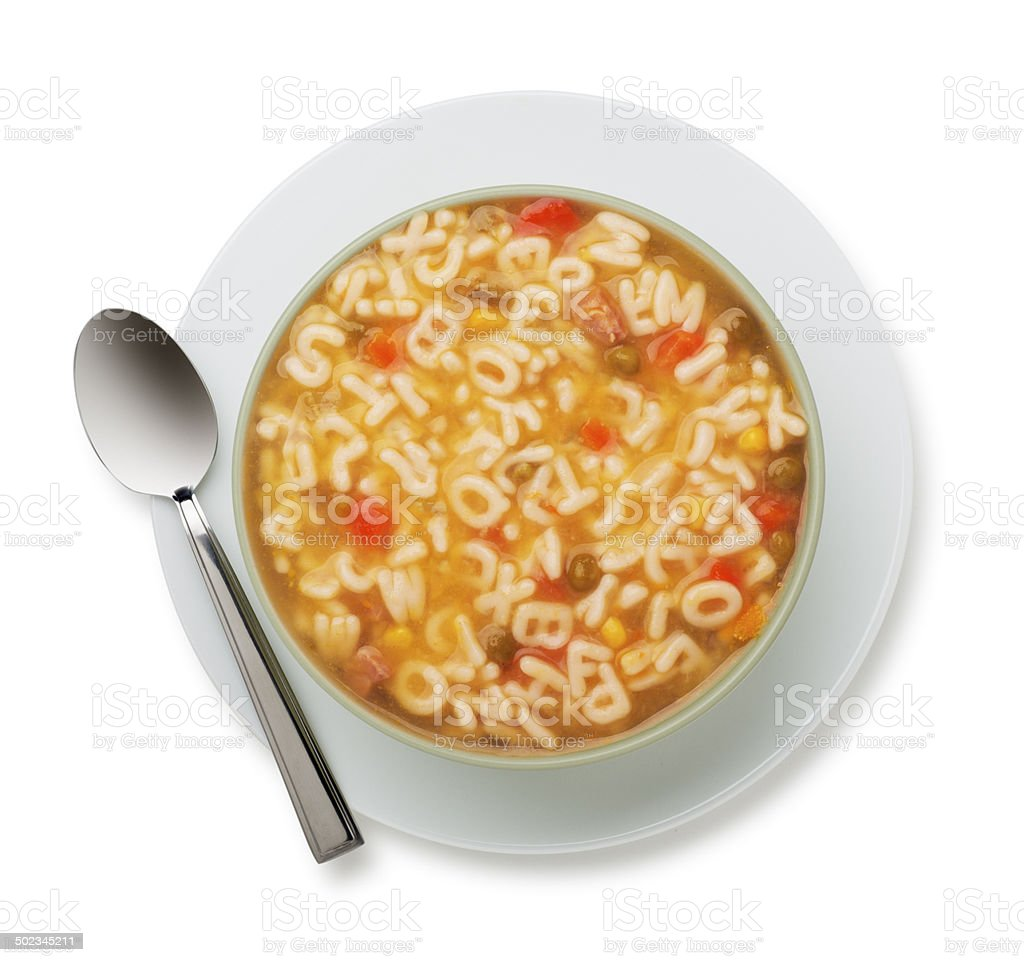 ABC Soup with www Hidden Inside stock photo