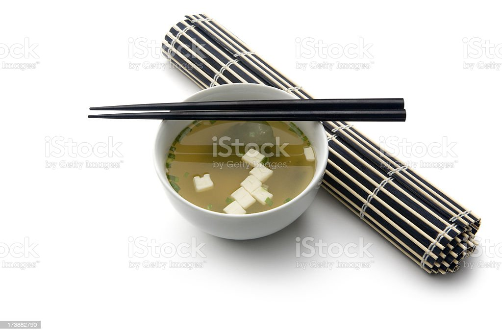 Soups: Miso Soup royalty-free stock photo
