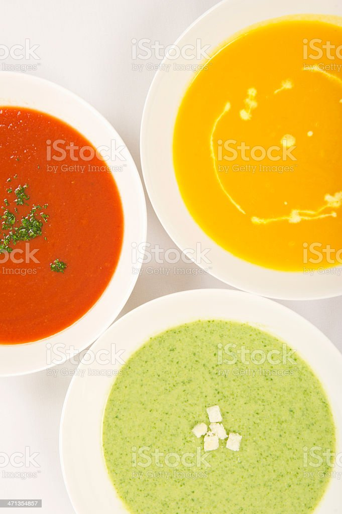 Soups stock photo