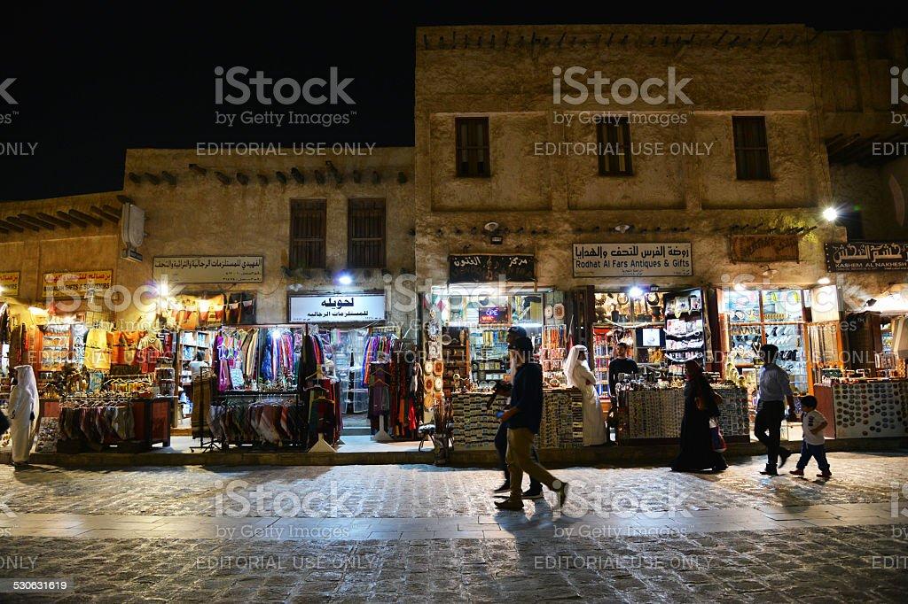 QATAR, DOHA - Souq Waqif stock photo
