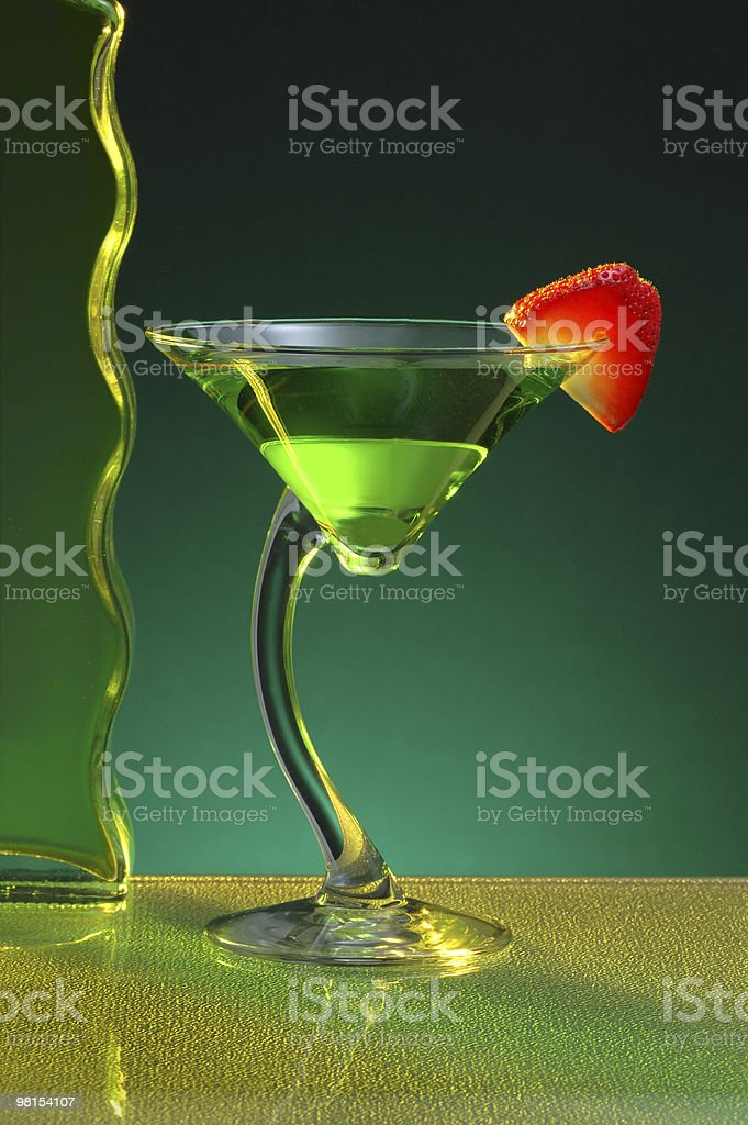 Sour Apple Martini stock photo
