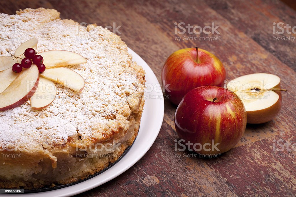 Sour Apples Cake stock photo