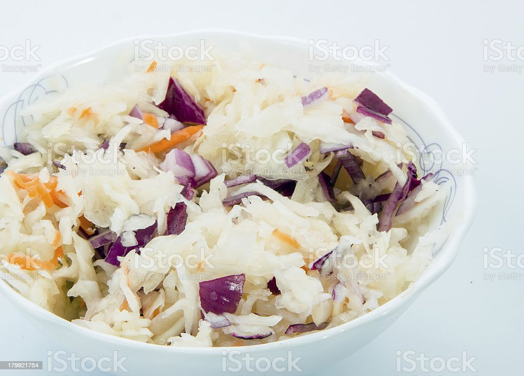 Sour cabbage royalty-free stock photo