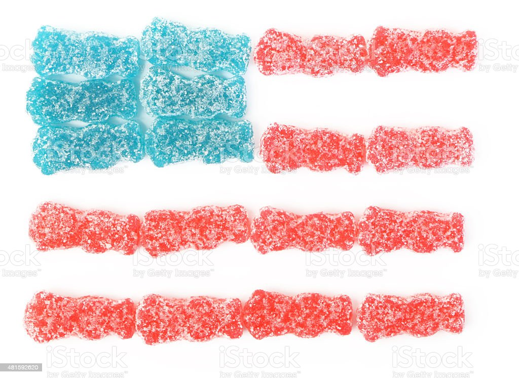 Sour Candy - American Flag stock photo