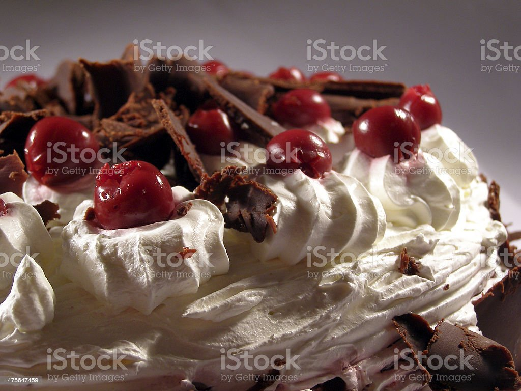 Sour cherry cake stock photo