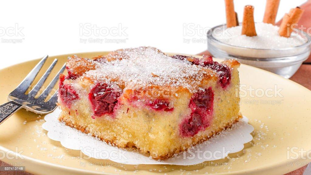 Sour cherry cake stock photo