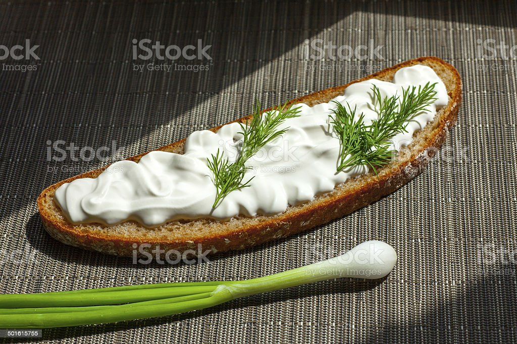 sour cream dill bread royalty-free stock photo