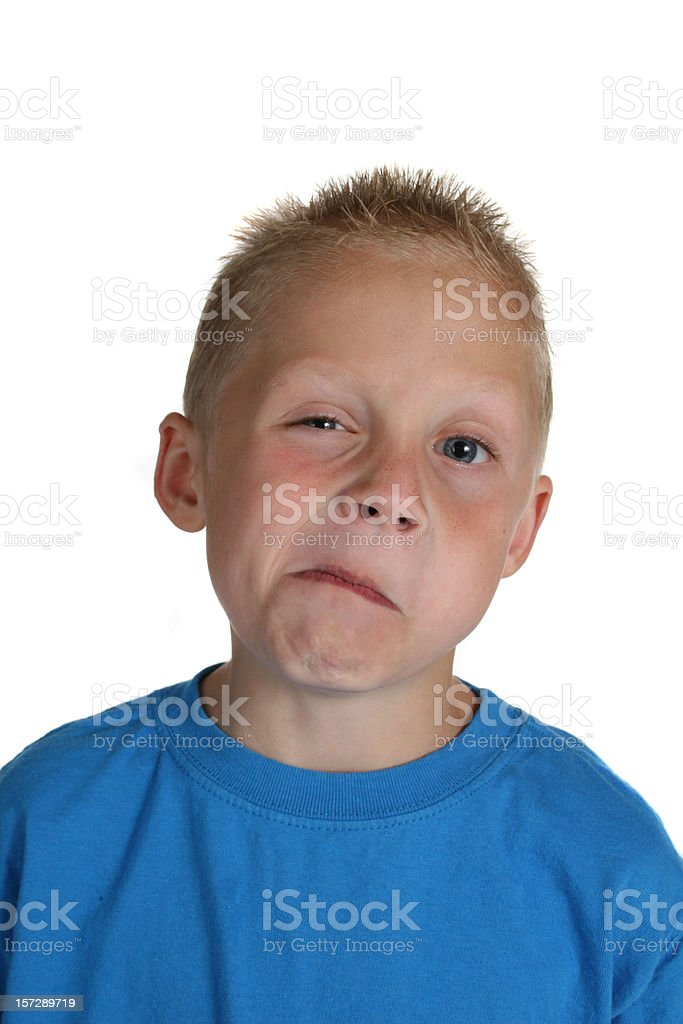 sour face royalty-free stock photo