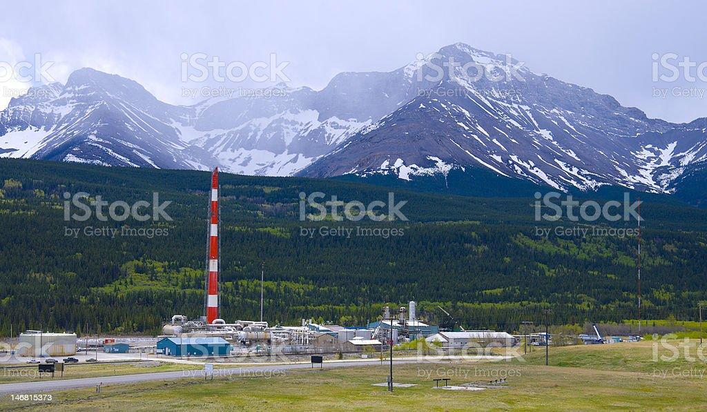 Sour Gas Plant stock photo