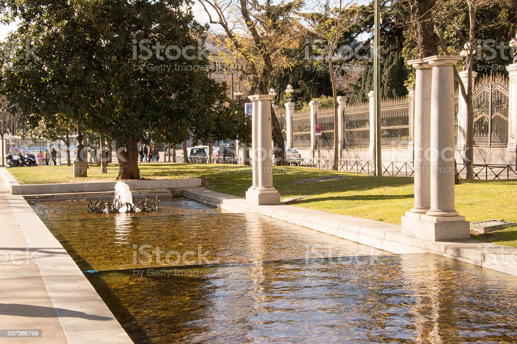 Source of a park stock photo