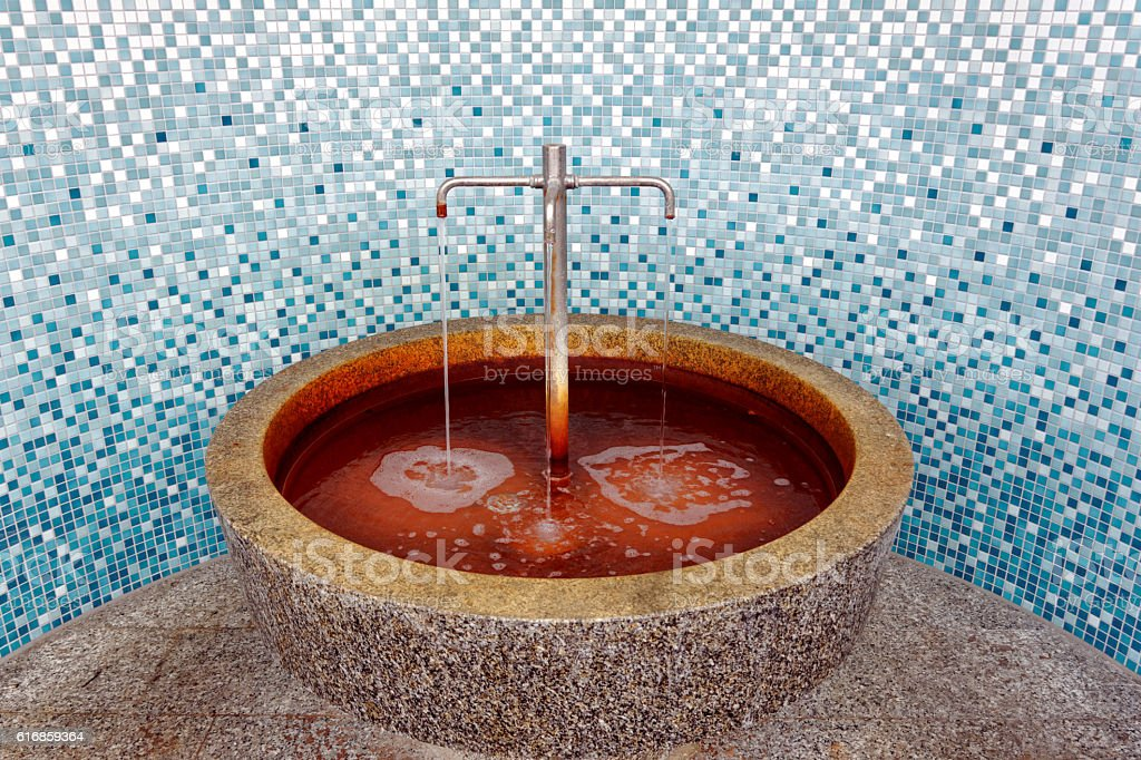 source of healing - König-Ludwig-Quelle stock photo